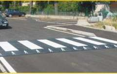Speed hump Crosswalk