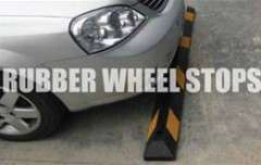 Wheelstops Recycled Rubber