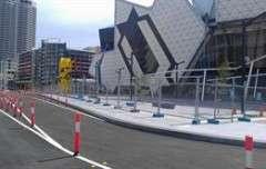 Workzone Bollards Perth Arena